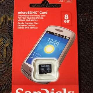 MicroSDHC 8GB Sandisk