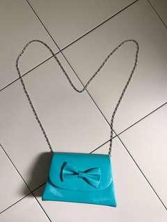 Mint green bow sling bag 😍