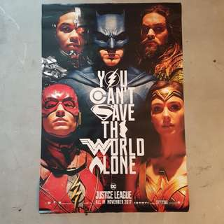 Justice League Cinema grade poster