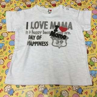 寶寶上衣 I love mama 最後一件80碼