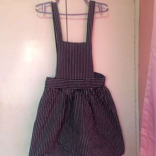 Black Striped Jumper Dress