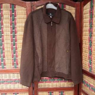 Jaket Suede Golf Brown not Parka Jeans Sweater Outdoor