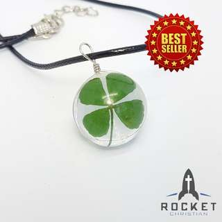 Four-leaf clover necklace (Available Now)