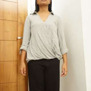 NEW LOOK Gray Blouse