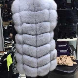 Silver Arctic Fox Fur Vest