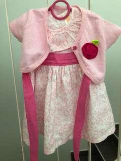 Dress with cardigan