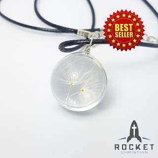 Dandelion Crystal Ball Necklace (Available Now)