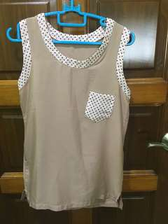 Top with Polka Dot design & Pocket