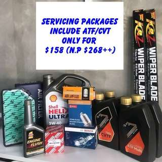 Shell Helix 5W40 Full Servicing Packages inclusive ATF/CVT