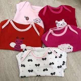 PL Long-sleeve Girl Baby Rompers