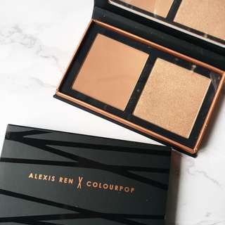 Colourpop x Alexis Ren Topaz Pressed Powder Highlighter & Bronzer Palette