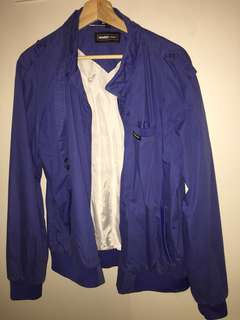 Blue Members Only 'Iconic Racer' zip up jacket size L
