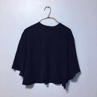 BN black flutter batwing blouse top