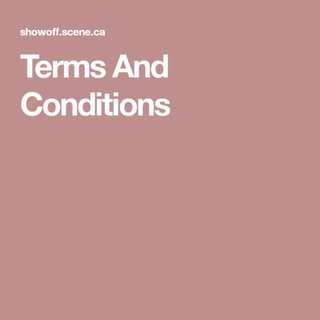 Terms and Condition!!!