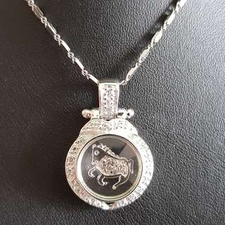 Chinese Horse zodiac lucky charm pendant (时来运转生肖)