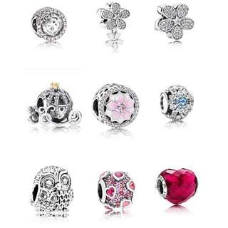 Instock BN Pandora Charms pendent bangle Earrings Bracelet