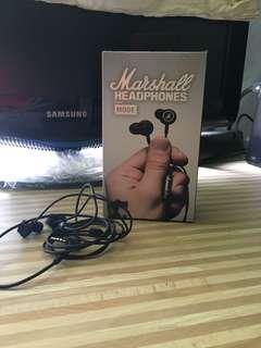 Marshall earphone 99% new