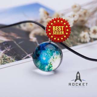 Outerspace Sun Crystal Ball Necklace (Available Now)