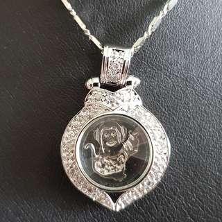 Chinese Monkey zodiac lucky charm pendant (时来运转生肖)