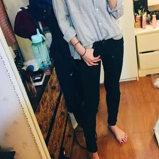 H&M全黑褲