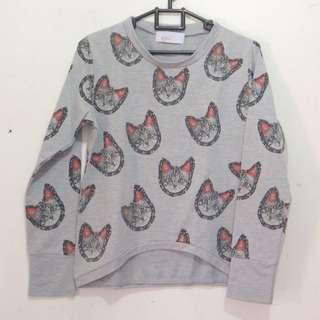sweater motif cats