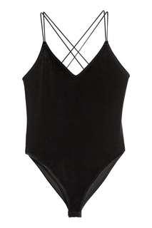 H&M Velvet Velour Body Suit