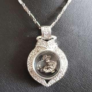 Chinese Rabbit zodiac lucky charm pendant (时来运转生肖)