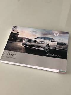 Mercedes-Benz C-Class (W204) Owner's Manual Handbook