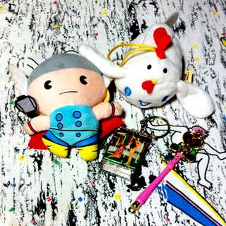 Thor, Cinnamoroll & Sailor Moon Keychains
