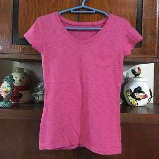 👱🏻♀️Basic Pink Vneck Shirt