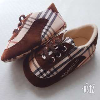 Baby Boy Checkered Shoes