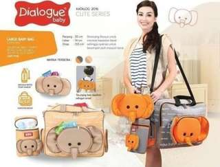 Dialogue diaper bag elephant CUTE series Large