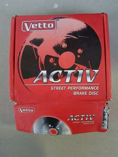 Vetto slotted disc rotor