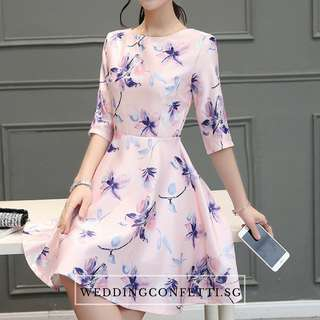 *Brand New* Spring Blossoms Azalea Long Sleeves Pink Floral Dress