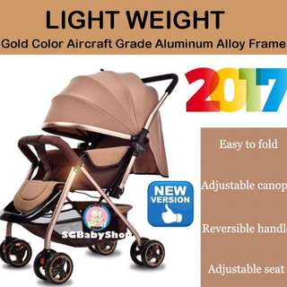 💯2017Brand New German design Light weight Aluminum baby stroller/pram/Offer/safety product