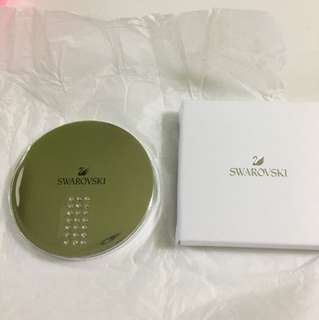 Swarovski 水晶銀鏡盒