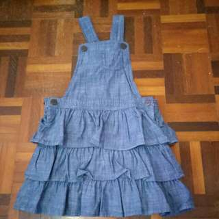 H&M Denim bib overall dress