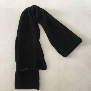 Marc Jacobs Cotton Black Scarf