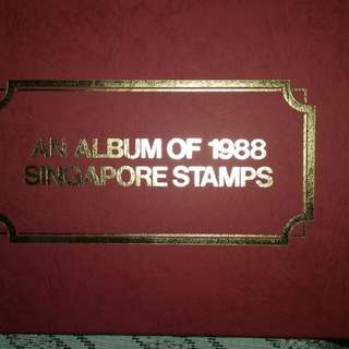Album of 1988 Singapore stamps