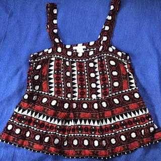 H&M Aztec blouse