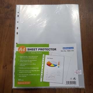 A4 protector sheet $1 per set of 10pcs