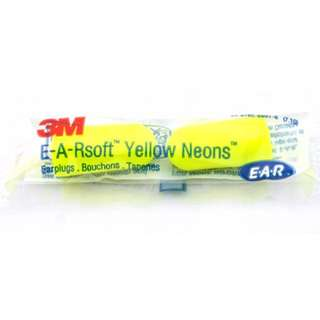 (10 pairs) 3M 312-1250 Yellow Neons Uncorded Earplugs