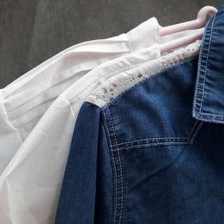 Bundle B - Formal Tops and Denim Jacket