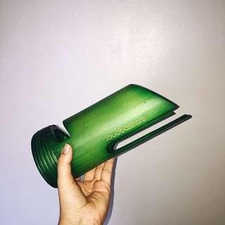 Loudbasstard green bamboo speaker