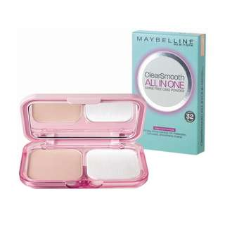 <FREE DELIVERY> Maybelline New York Clear Smooth BB All In One Shine Free Foundation Cake Powder In Shade Honey