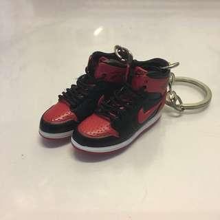 Jordan 1 黑紅 & Jordan 11 黑白 鎖匙扣