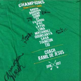 DLSU Lady Spikers Championship Shirt with Autograph