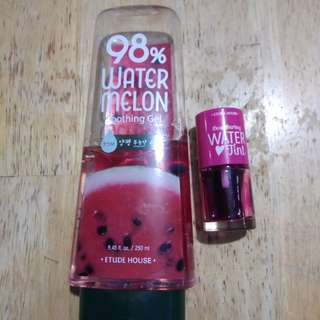 REPRICED ETUDE HOUSE TINT AND WATERMELON GEL ( SALE!!)