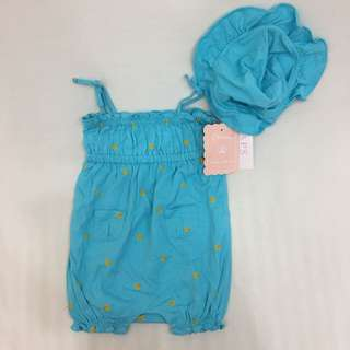 Chaps romper with Hat