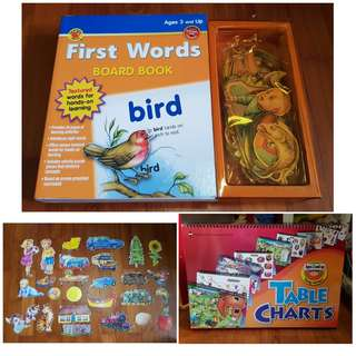 First Words Board Book + FOC Table charts